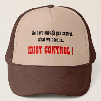 Boné O chapéu do camionista do controle do idiota