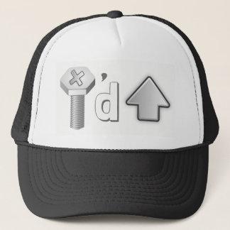 Boné O chapéu do camionista engraçado acima parafusado