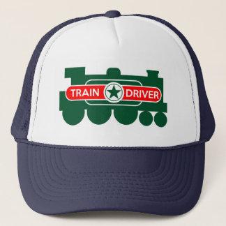 Boné O chapéu do motorista do trem
