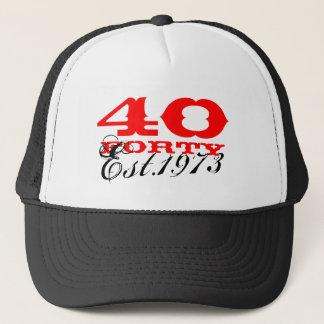 Boné O chapéu | do vintage do aniversário de 40 anos