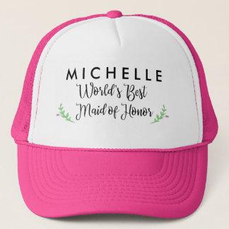 Boné O chapéu personalizado a melhor madrinha de