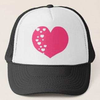 Boné O coração segue o branco cor-de-rosa