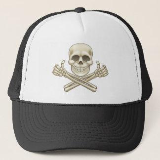 Boné O crânio dos desenhos animados e o pirata dos