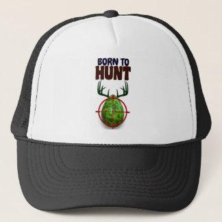 Boné o design engraçado da páscoa, nascer para caçar