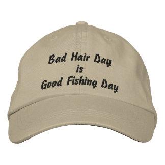 Boné O dia mau do cabelo é bom dia de pesca