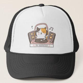 Boné O DJ bonito risca o chapéu do gato