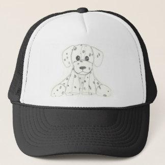 Boné o doodle simples do cão caçoa o dalmatian branco