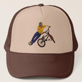 Boné O esqueleto ostenta o chapéu de BMX
