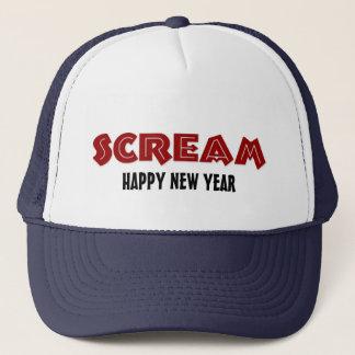 Boné O feliz ano novo do gritar do chapéu