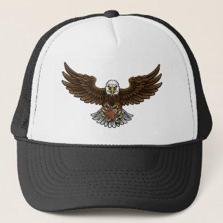 Boné O futebol americano de Eagle ostenta a mascote