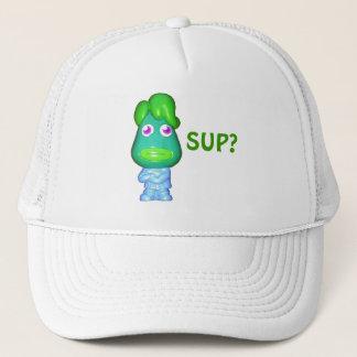 """Boné O gajo estrangeiro de Lil diz, """"Sup? """""""