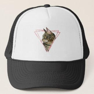 Boné O gato de gato malhado com falso cora quadro