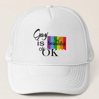 Boné O gay do orgulho de LGBTQIA é ok.OK bonito. Amor