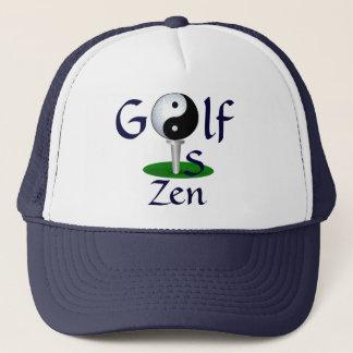 """Boné O """"golfe é chapéu do zen"""""""
