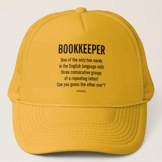 """Boné O """"guarda-livros é uma palavra original """""""
