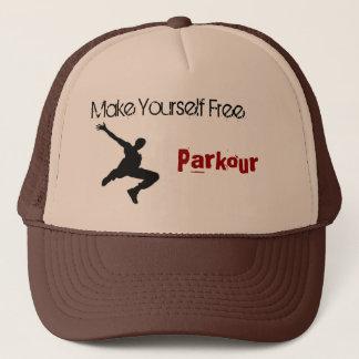 Boné o homem do parkour, faz-se livre, Parkour