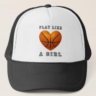 Boné O jogo gosta de um basquetebol da menina