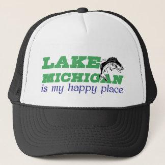 Boné O Lago Michigan é meu lugar feliz