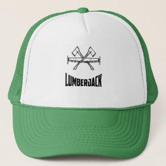 Boné O lenhador o chapéu viu e do camionista do machado