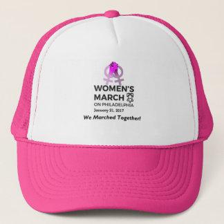 Boné O março das mulheres no chapéu do camionista de