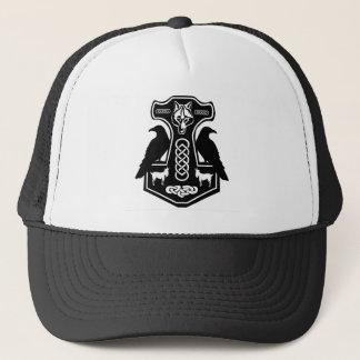 Boné O martelo do Thor pagão com chapéu dos corvos