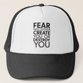 Boné O medo criar-o-&z ou destrui-l-á - inspirado