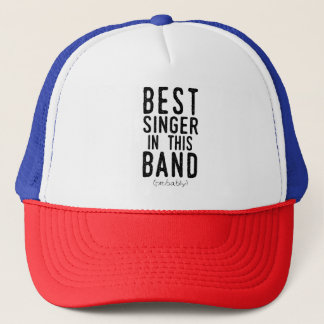 Boné O melhor cantor (provavelmente) (preto)