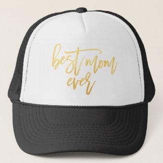 Boné O melhor chapéu do camionista do ouro da mamã