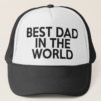 Boné O melhor pai no chapéu do camionista do mundo