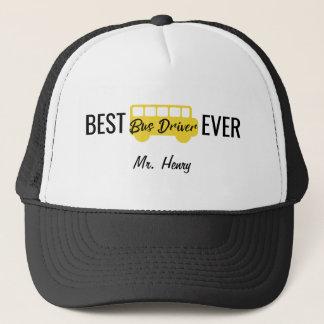 Boné O melhor preto amarelo nunca personalizado do