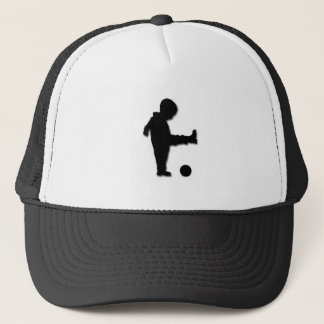 Boné O menino inocente grava o chapéu do camionista (o