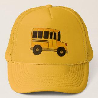 Boné O motorista de auto escolar amarelo grande