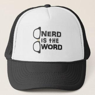 Boné O nerd é a palavra