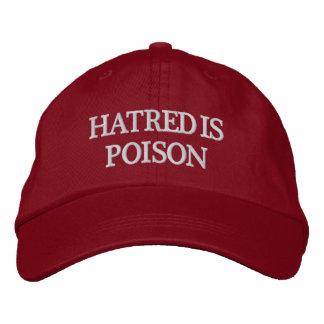 Boné O ódio é chapéu da Branco-Letra do veneno
