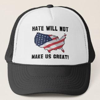 Boné O ódio não fará o excelente dos E.U.