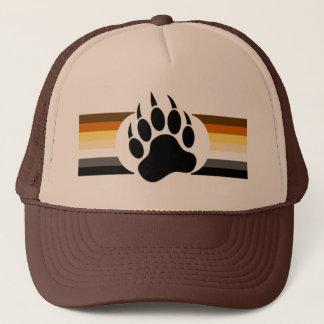 Boné O orgulho do urso colore listras e pata de urso