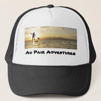 Boné O par de Au aventura-se o chapéu dos camionistas,