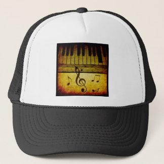 Boné O piano fecha o vintage