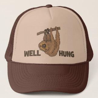 Boné O poço pendurou o chapéu do camionista da preguiça