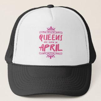 Boné O Queens é nascido em abril
