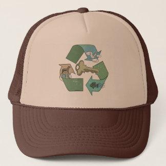 Boné O reciclagem simbólico é chave por estúdios de