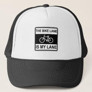 Boné O sinal da pista da bicicleta
