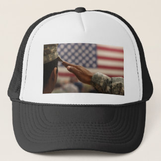 Boné O soldado sauda a bandeira dos Estados Unidos