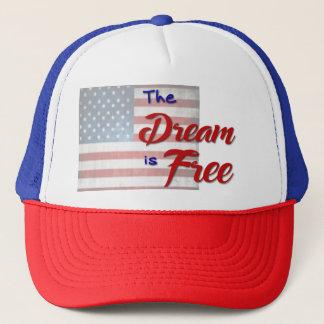 Boné O sonho é chapéu livre