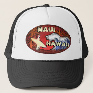 Boné O surfista de Maui Havaí acena o chapéu artístico
