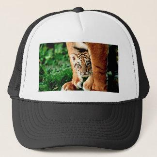 Boné O tigre Cub de Bengal espreita para fora