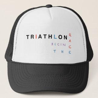 Boné O Triathlon deixou a raça começar