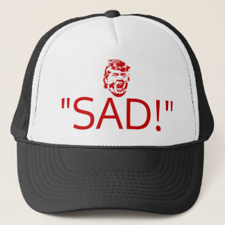 "Boné O trunfo Tweets chapéu ""TRISTE! """