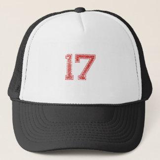 Boné O vermelho ostenta Jerzee número 17