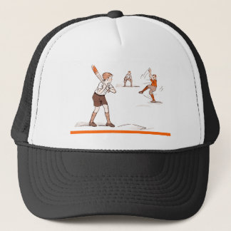 Boné O vintage caçoa o jogo de basebol dos meninos